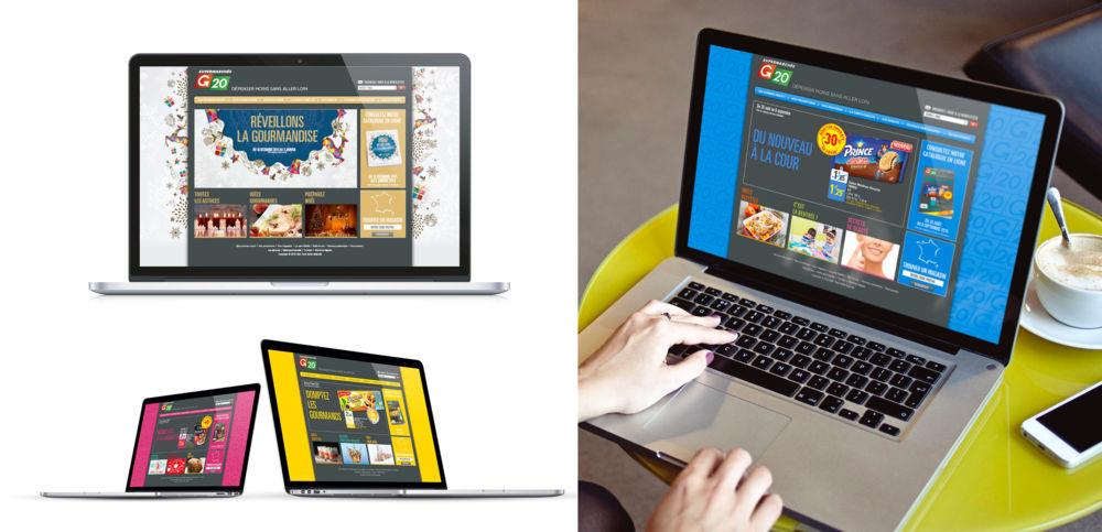 Un site web qui change d'allure en fonction des opérations commerciales
