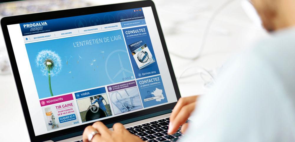Le site web est le relais de catalogue ainsi qu 'un support technique